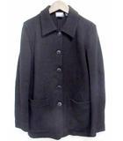 ダナキャランニューヨーク DKNY ジャケット テーラードジャケット 長袖 ウール 100 無地 黒 P