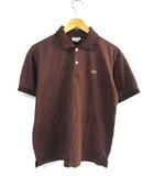 ラコステ LACOSTE ポロシャツ カットソー 半袖 茶系 4