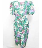 ユキトリイ YUKI TORII ワンピース ドレス 半袖 花柄 ロング丈 緑 9