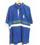 ポロ バイ ラルフローレン Polo by Ralph Lauren ポロシャツ 半袖 ロゴ コットン 100 ネイビー 紺 LL