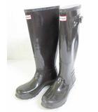 ハンター HUNTER レインブーツ 長靴 ORIGNAL GLOSS TALL トール W23618 黒 UK5 EU38 24.0