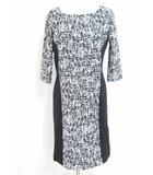 クードシャンス CdeC COUP DE CHANCE ワンピース チュニック ドレス ロング丈 5分袖 黒 白 36