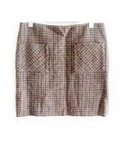 ハリスツイード Harris Tweed 台形 スカート 23区 コラボ ウール 100 千鳥格子 茶 40 W65-69