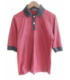 フレッドペリー FRED PERRY ポロシャツ シャツ 半袖 コットン 100 ボーダー 赤 黒 M