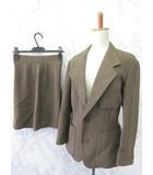トキオクマガイ TOKIO KUMAGAI スーツ セットアップ 2B キュロット パンツ ショート ウール こげ茶系 M