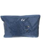 キャセリーニ casselini バッグ クラッチ 刺繍 紺 ネイビー ☆CA☆キ6 /tk0115