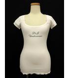 ディー&ジー ドルガバ ドルチェ&ガッバーナ D&G UNDERWEAR カットソー Tシャツ 半袖 ロゴ プリント XS 白 ホワイト 国内正規 /ts