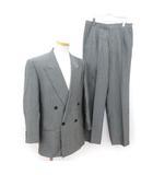 ランバン LANVIN スーツ  ジャケット ダブル パンツ ウール R50-46 グレー ☆CA☆キ31-4店 /hk0209