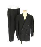 ブルーノ ピアッテリ BRUNO PIATTELLI スーツ セットアップ ジャケット パンツ ダブル 94A 6 黒 ブラック /ey0215