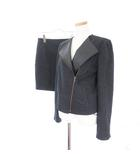 ボナジョルナータ BUONA GIORNATA スーツ セットアップ ジャケット ライダース スカート タイト ミニ M 黒 ブラック ☆F☆ amy0307