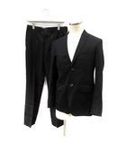 マーガレットハウエル MARGARET HOWELL FOX BROTHERS セットアップ 上下 スーツ テーラードジャケット スラックスパンツ S 黒 /YI29 ■SM