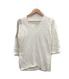 キャピタル kapital Tシャツ カットソー 七分袖 Vネック 0 白 /CY4
