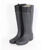 ユナイテッド・カラーズ・オブ・ベネトン UNITED COLORS OF BENETTON ブーツ レイン 長靴 ローヒール ラバー 25 黒 /CY2