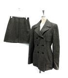 シーケーカルバンクライン ck Calvin Klein セットアップ 上下 スーツ ジャケット テーラード スカート ミニ 4 グレー /SR38 ■SM