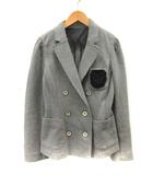 ダブルスタンダードクロージング ダブスタ DOUBLE STANDARD CLOTHING ジャケット テーラード ダブル ワッペン 38 グレー /YI11