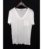 ティーバイアレキサンダーワン T by Alexanderwang Tシャツ カットソー Vネック 半袖 M 白 /SN65 ●