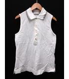 モンクレール MONCLER ポロシャツ カットソー 刺繍 ノースリーブ XS 白 /DT ■CA