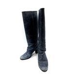 マルタンマルジェラ Martin Margiela 22 ブーツ ロング レザー 35 紺 ネイビー /KH ■CA