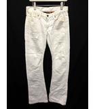 ラングラー WRANGLER AKM デニム ジーンズ パンツ ダメージ加工 S 白 ホワイト /KH ■CA12
