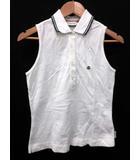 モンクレール MONCLER ポロシャツ ノースリーブ S 白 83510 /DJ ■CA16
