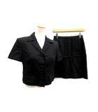スポーツマックス マックスマーラ SPORT MAX スーツ セットアップ 上下 ジャケット スカート リネン 36 黒 ブラック /KH ■CA27