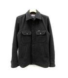 ブルーブルー BLUE BLUE ジャケット シャツ 長袖 カシミヤ混 1 グレー /DH5 ●D