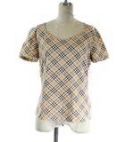 バーバリー BURBERRY Tシャツ カットソー 半袖 チェック 2 ベージュ /NT11