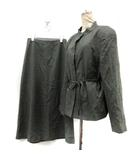 クロエ CHLOE スーツ 上下 セットアップ スカート ウール 42 グレー /DT