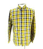 ビームスプラス BEAMS+ ボタンダウン シャツ 長袖 チェック 黄色 イエロー S