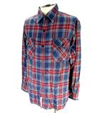 リーバイス レッドタブ Levi's RED TAB ネルシャツ 長袖 チェック 柄 紺 ネイビー M