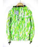 コロンビア Columbia エクストリームポイントジャケット マウンテン パーカー オムニテック 撥水 迷彩 カモフラ 黄緑 白 ホワイト M PM5935