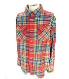 カーハート carhartt 美品 ヘビー ネルシャツ 長袖 チェック 柄 綿100% 赤 レッド XL