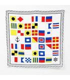 アダストリア スカーフ ストール マフラー ファッション小物 国旗 総柄 プリント 正方形 白 マルチカラー