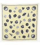 (株)アダストリア スカーフ バンダナ ファッション小物 大判 正方形 総柄 プリント ベージュ 黒 白