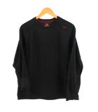 ミズノ MIZUNO カットソー インナー Tシャツ 長袖 ブレスサーモ ブラック 黒 M