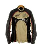 SUOMY ジャケット ライダースジャケット バイク 刺繍 ライナー付き ベージュ ブラック 黒 レッド 赤 ホワイト 白 M