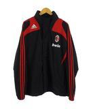 アディダス adidas ジャケット ナイロン ウインドブレーカー bwin ACミラン ジップアップ サッカー ブラック 黒 赤 O