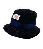グルービカラーズ GROOVY COLORS ハット バケットハット 帽子 パイル地 ネイビー 紺 M キッズ 子供