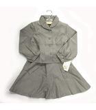 c47946ac22aea アトリエサブ ATELIER SAB セットアップ フォーマル ブラウス 長袖 丸襟 スカート サスペンダー 女の子 日本製 ドット グレー