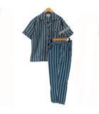 NORTHFIELDCLUB パジャマ セットアップ 上下セット シャツ 半袖 パンツ チェック ブリーン 緑 ブルー 青 ホワイト 白 MA
