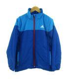 アディダス adidas ジャケット ナイロン ジップアップ 中綿入り climaproof ブルー 青 水色 150