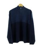 カルバンクラインジーンズ Calvin Klein Jeans ニット セーター 長袖 ハーフジップ ウール ネイビー 紺 M