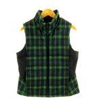 コムサイズム COMME CA ISM ジャケット ベスト ジップアップ 前開き 中綿入り チェック グリーン 緑 ネイビー 紺 150