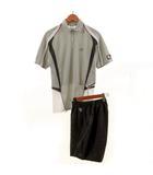 ヨネックス YONEX セットアップ 上下セット VERY COOL テニス ポロシャツ 半袖 ハーフパンツ グレー M
