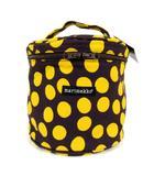 マリメッコ marimekko バニティバッグ 化粧バッグ ハンドバッグ バッグ キャンバス ドット パープル系 イエロー 黄色