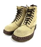 ドクターマーチン DR.MARTENS ブーツ スウェード レザー 8ホール イングランド製 ベージュ UK8