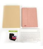 Wireless Keyboard Bluetooth ブルートゥース キーボード アイパッド プロ ipad Pro 11用カバーケース キーボード保護カバー付き ピンク ホワイト 白