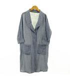 ワードローブ wordtrobe コート 七分袖 ロールアップ ストライプ ブルー 青 ホワイト 白 F