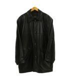 ウィンドアーマー WIND ARMOR コート ステンカラー 羊革 レザー 黒 ブラック LL