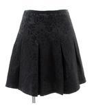 ジルスチュアート JILL STUART スカート ミニスカート フレア ひざ丈 総柄 黒 ブラック 0